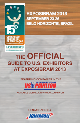 the official guide to us exhibitors at exposibram 2013 organized by