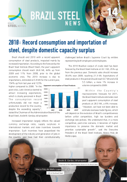 Record consumption and importation of steel