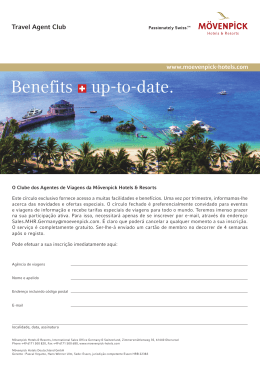 Benefits up-to-date. - Mövenpick Hotel & Resorts Mövenpick Hotel