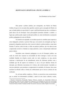 (RE)PENSAR OU (DES)PENSAR A PRÁTICA JURÍDICA? José