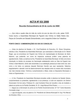ACTA Nº 03/ 2008 - Câmara Municipal de Figueiró dos Vinhos
