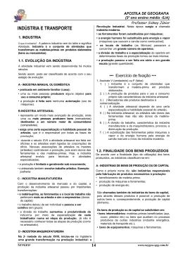INDÚSTRIA E TRANSPORTE