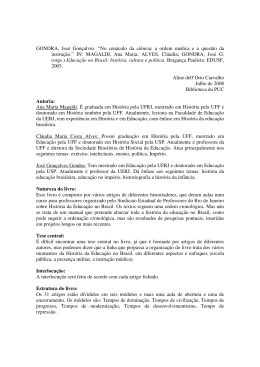"""GONDRA, José Gonçalves. """"No cenáculo da ciência: a ordem"""