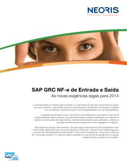 SAP GRC NF-e de Entrada e Saída