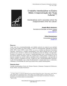 O trabalho interdisciplinar no Ensino Médio: A reaproximação das