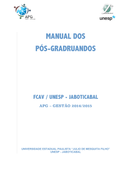 Manual do Pós-graduando
