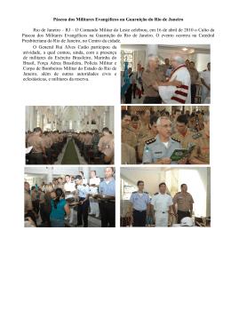 Páscoa dos Militares Evangélicos na Guarnição