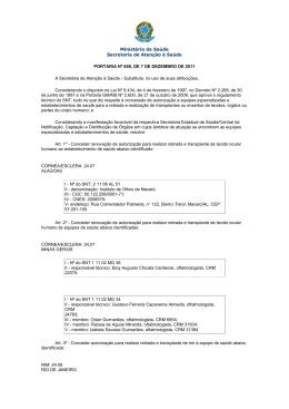 Portaria SAS/MS nº 858, de 07 de Dezembro de 2011.