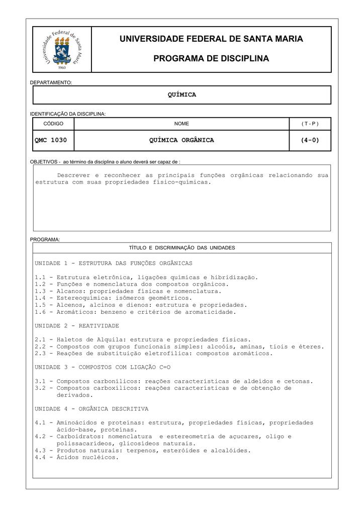 Qmc 1030 Prg Quimica Organica