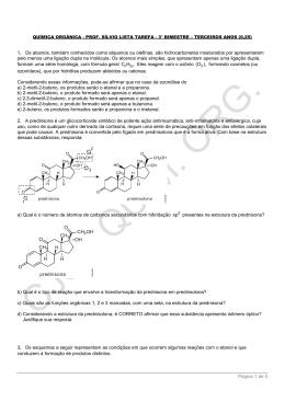 Página 1 de 5 1. Os alcenos, também conhecidos como alquenos