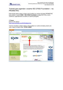 Procedimentos para agendar o seu exame ITIL