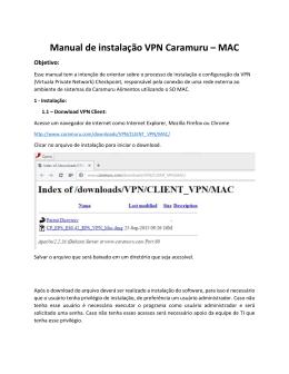 Manual de instalação VPN Caramuru – MAC