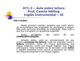 Conscientização sobre o processo de leitura_Camila