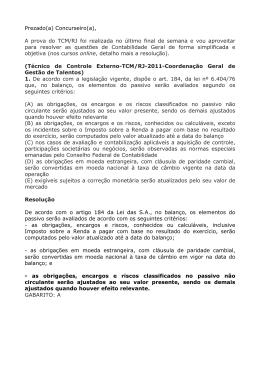 Prezado(a) Concurseiro(a), A prova do TCM/RJ foi realizada no