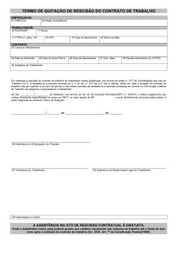 Termo de Quitação do Contrato de Trabalho