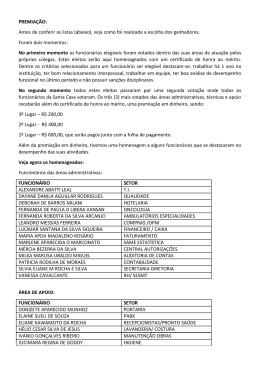"""Clique aqui para ver a lista completa do """"Funcionário do Ano"""""""