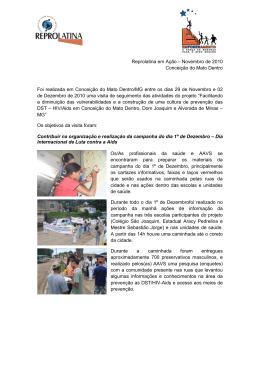 Visita de seguimento do Projeto em Conceição do