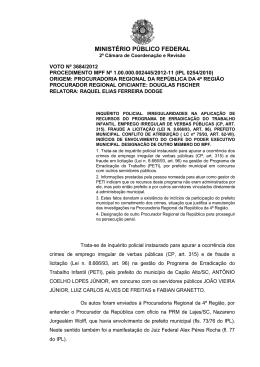 ministério público federal - 2ª Câmara de Coordenação e Revisão