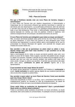Prefeitura Municipal de São José dos Campos Secretaria de