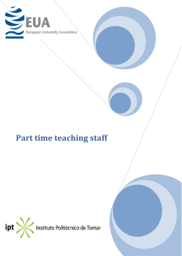 Document on Part-time teaching staff