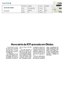 Nova série do RTP gravado em Óbidos