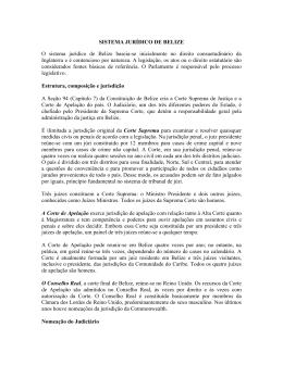sistema jurídico de Belize