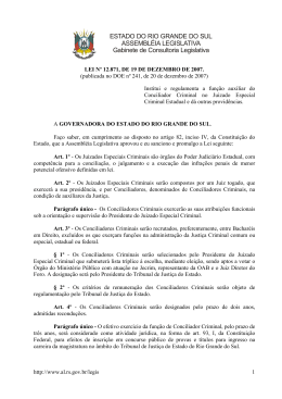 ESTADO DO RIO GRANDE DO SUL ASSEMBLÉIA LEGISLATIVA
