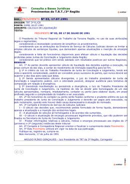 Consulta a Bases Jurídicas Provimentos do T.R.T./3ª