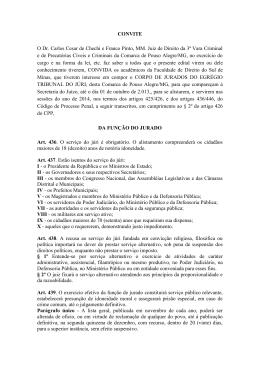 CONVITE O Dr. Carlos Cesar de Chechi e Franco Pinto, MM