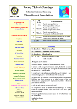Programa - Rotary Distrito 1960