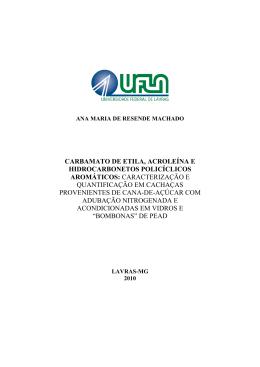 TESE_Carbamato de etila, acroleína e hidrocarbonetos