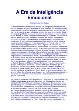A Era da Inteligência Emocional