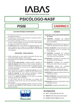 PSICÓLOGO-NASF - Concursos BioRio