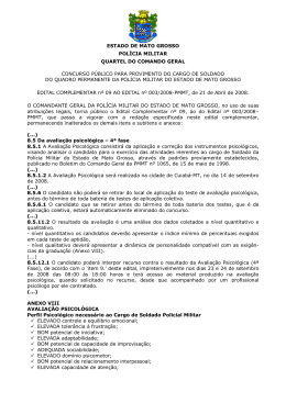 Edital Complementar nº 009/2008
