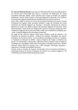 Dr. José Luís Pimentel Amaral: Licenciado em Matemática