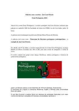 Palestra com o escritor - José Luís Peixoto Festa Portuguesa, 2014