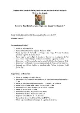Biografia DPDN Angola