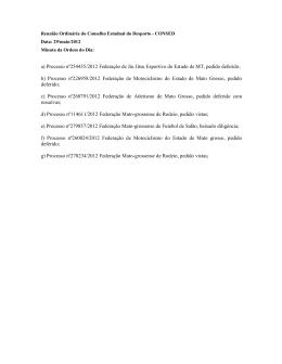 a) Processo nº254435/2012 Federação de Jiu Jitsu Esportivo do