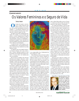 Os Valores Femininos e o Seguro de Vida