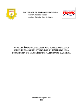 avaliação do conhecimento sobre papiloma vírus humano relatado