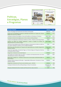 Políticas, Estratégias, Planos e Programas