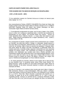 carta do santo padre papa joão paulo ii