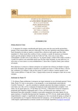 exortação apostólica catechesi tradendae de joao paulo ii