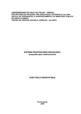 propostas para melhoramento JOÃO PAULO BIANCHI B