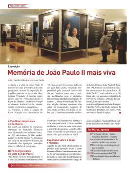 Memória de João Paulo II mais viva