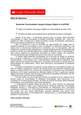 25.03 Santander Universidades inaugura Espaço Digital no UniCEUB
