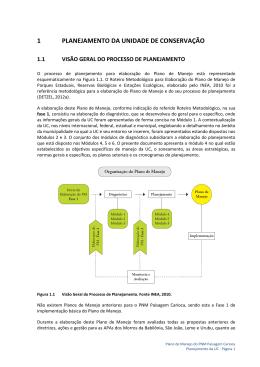 PNM Paisagem Carioca - Planejamento 2
