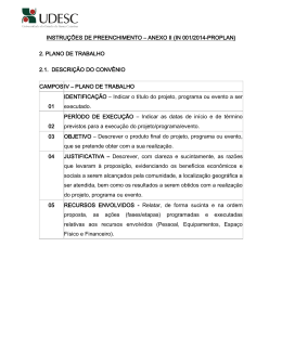 INSTRUÇÕES DE PREENCHIMENTO – ANEXO I