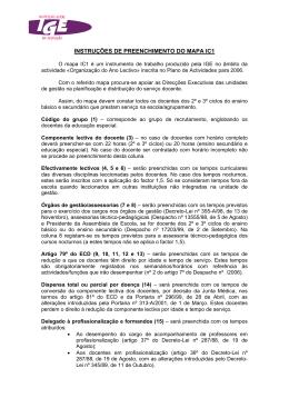 INSTRUÇÕES DE PREENCHIMENTO DO MAPA IC1