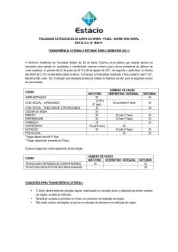 Edital de transferência externa e retorno 2011.2x